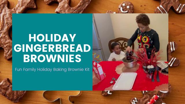 Baking Holiday GingerbreadBrownies