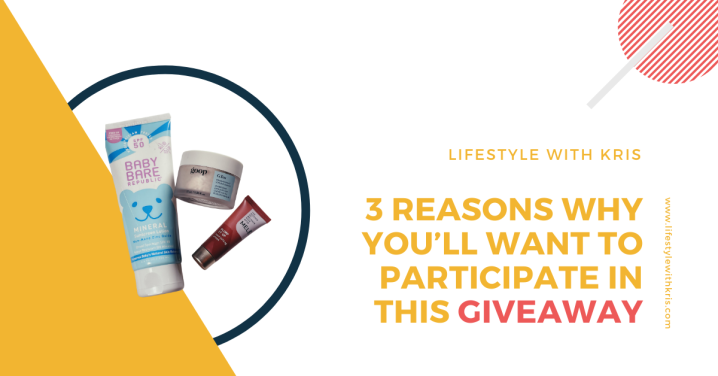 3 Reasons Why You'll Want To Participate In ThisGiveaway